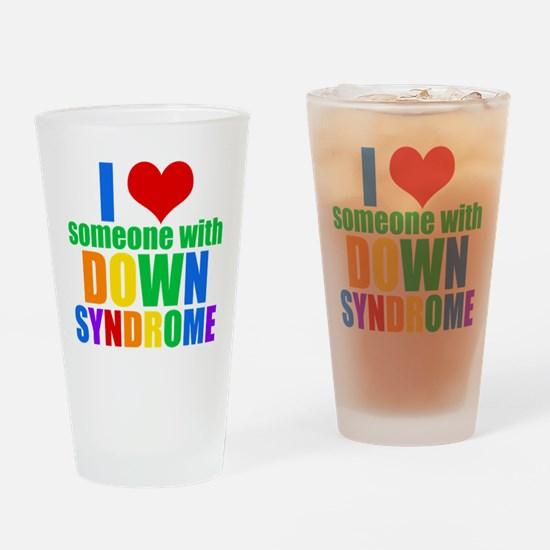 Down Syndrome Love Drinking Glass