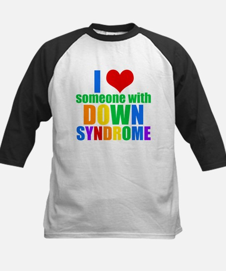 Down Syndrome Love Kids Baseball Jersey