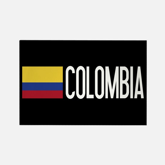 Colombia: Colombian Flag & Colomb Rectangle Magnet