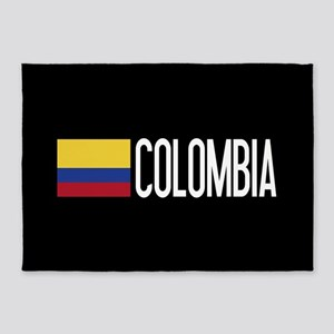 Colombia: Colombian Flag & Colombia 5'x7'Area Rug