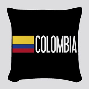 Colombia: Colombian Flag & Col Woven Throw Pillow