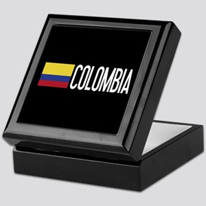 Colombia: Colombian Flag & Colombia Keepsake Box