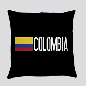 Colombia: Colombian Flag & Colombi Everyday Pillow