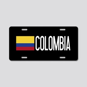 Colombia: Colombian Flag & Aluminum License Plate
