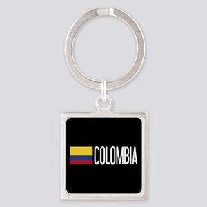 Colombia: Colombian Flag & Colombi Square Keychain