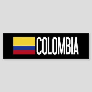 Colombia: Colombian Flag & Colomb Sticker (Bumper)