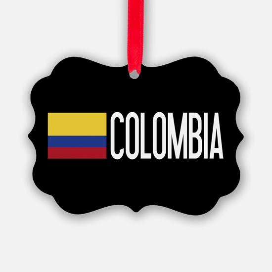 Colombia: Colombian Flag & Colomb Ornament