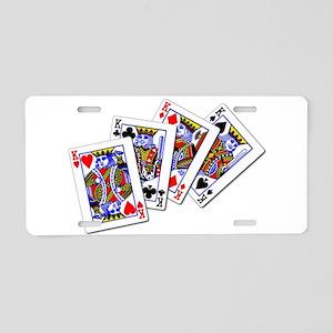 Four Kings Aluminum License Plate
