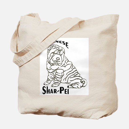 BWChineseSharPei Tote Bag