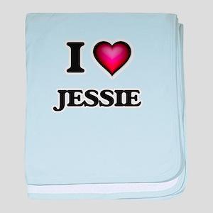 I love Jessie baby blanket