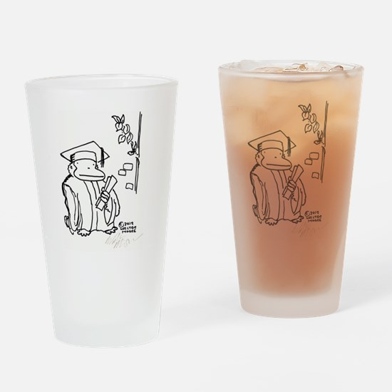 Cute Study hard Drinking Glass