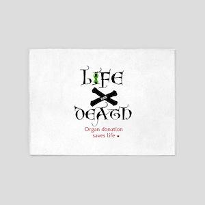 Life Not Death O.D 5'x7'Area Rug