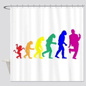 Gay Evolution Shower Curtain