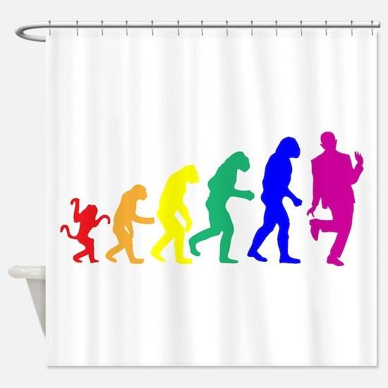 Gay Evolution Shower Curtain