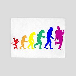 Gay Evolution 5'x7'Area Rug