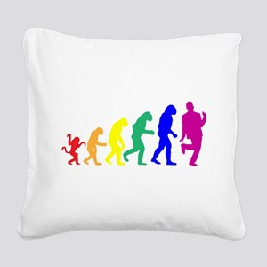 Gay Evolution Square Canvas Pillow