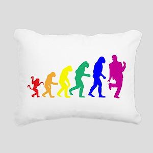 Gay Evolution Rectangular Canvas Pillow