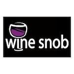 Wine Snob Rectangle Sticker