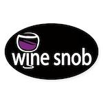 Wine Snob Oval Sticker