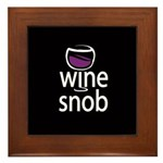 Wine Snob Framed Tile