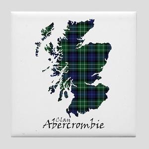 Map - Abercrombie Tile Coaster