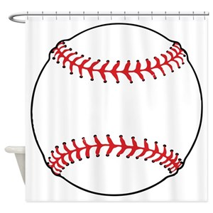 Special Baseball Shower Curtains