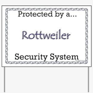 Rottweiler Security  Yard Sign