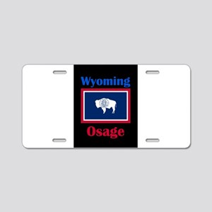 Osage Wyoming Aluminum License Plate