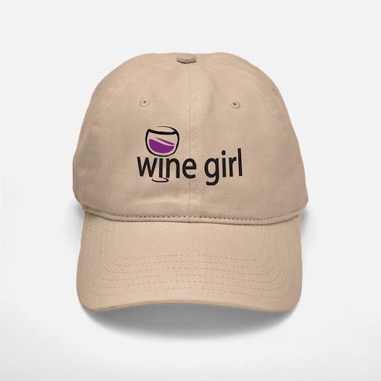 Wine Girl Baseball Baseball Cap