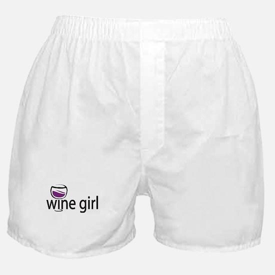 Wine Girl Boxer Shorts