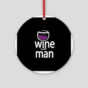 Wine Man Ornament (Round)