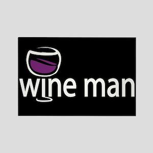 Wine Man Rectangle Magnet