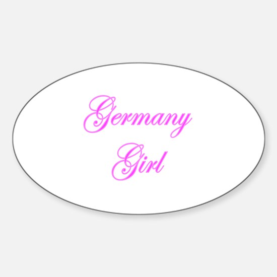 Germany Girl Oval Decal