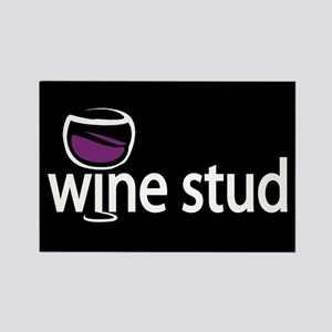 Wine Stud Rectangle Magnet