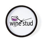 Wine Stud Wall Clock