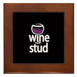Wine Stud Framed Tile