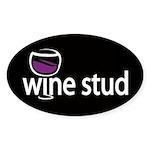 Wine Stud Oval Sticker