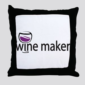 Wine Maker Throw Pillow