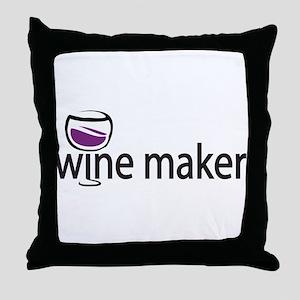 Wine Maker Throw Pillow