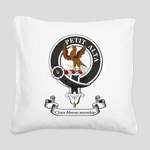 Badge - Abercrombie Square Canvas Pillow