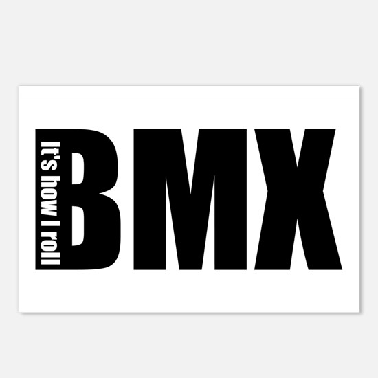 BMX -It's how I roll Postcards (Package of 8)