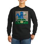 T-Rex Ping Pong Long Sleeve Dark T-Shirt