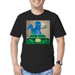 T-Rex Ping Pong Men's Fitted T-Shirt (dark)