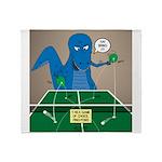 T-Rex Ping Pong Throw Blanket