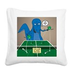 T-Rex Ping Pong Square Canvas Pillow