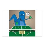 T-Rex Ping Pong Postcards (Package of 8)
