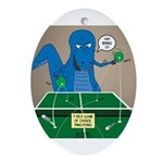 T-Rex Ping Pong Oval Ornament