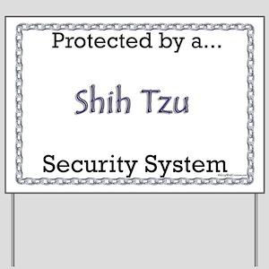 Shih Tzu Security  Yard Sign