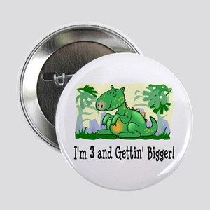 "I'm 3 Dinosaur Birthday 2.25"" Button"