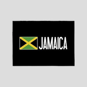 Jamaica: Jamaican Flag & Jamaica 5'x7'Area Rug